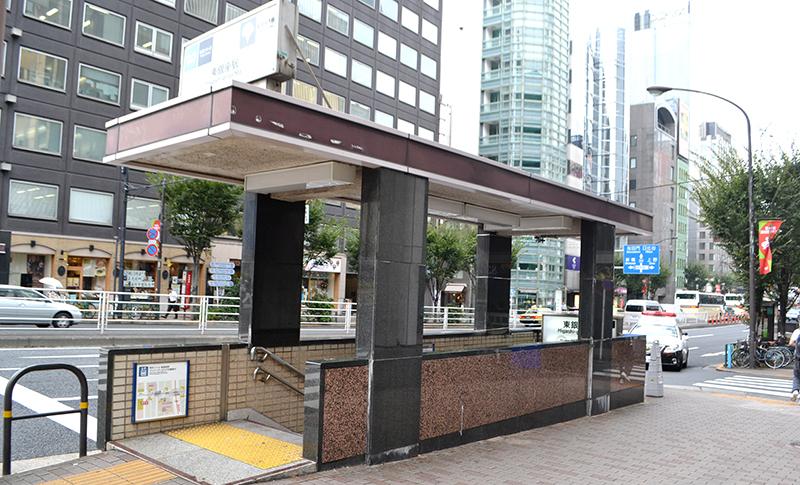 東銀座駅 5番出口