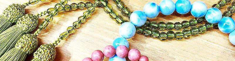 希少な天然石で作られたお数珠