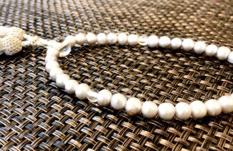 銀座 真珠 数珠 ブレス パール 6月 誕生石