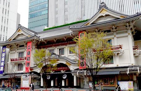 歌舞伎座正面入り口